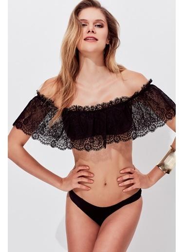 Miyuki Dantel İspanyol Bikini Siyah